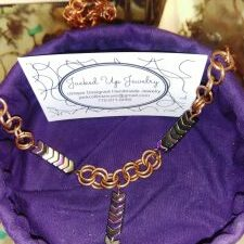 copper and hematite hand crafted necklaces and bracelets